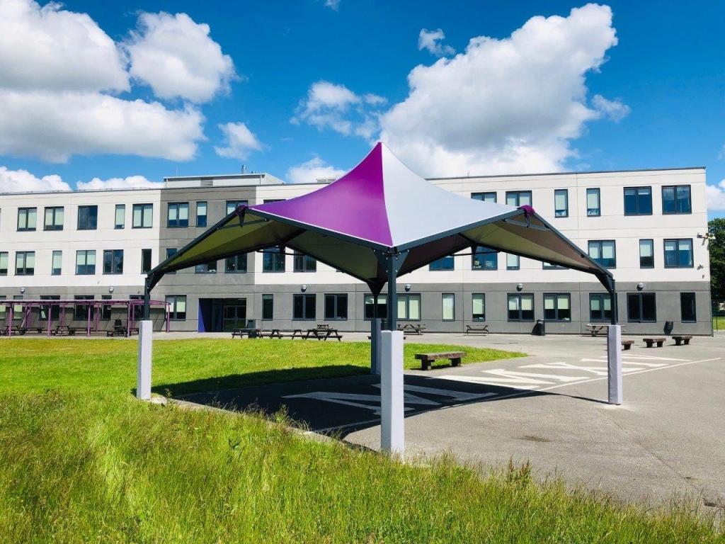 Sun Rain Shelter Fixed Permanent Canopy Social Distancing