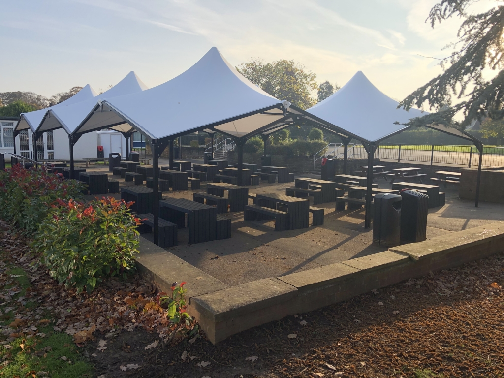 Modular Shelters Covered Outdoor Dining Area Social Distancing